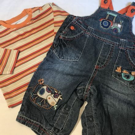 0-3 Month Dungaree Set
